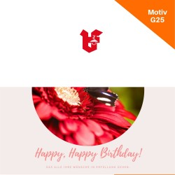 Klappkarte Geburtstag Motiv G25