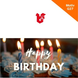 Klappkarte Geburtstag Motiv G27
