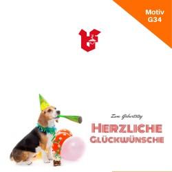 Klappkarte Geburtstag Motiv G34