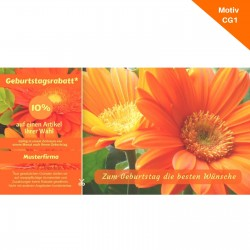 Postkarte Geburtstag mit Coupon Motiv CG1