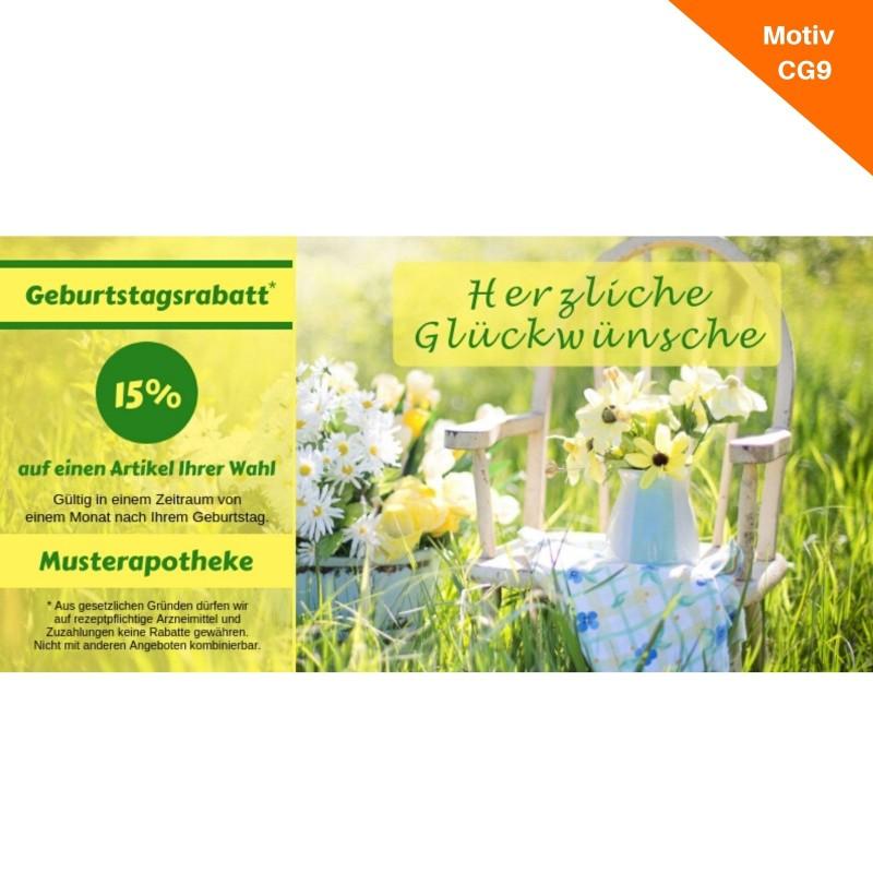 Postkarte Geburtstag mit Coupon Motiv CG9