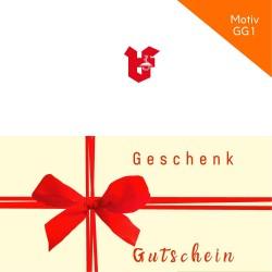 Geschenkgutschein Klappkarte Motiv GG1
