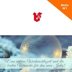 Klappkarte Weihnachtskarte Motiv W1