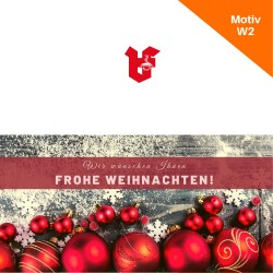 Klappkarte Weihnachtskarte Motiv W2