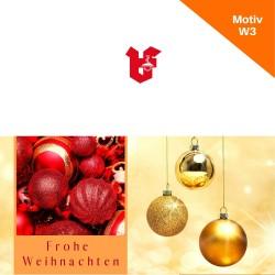 Klappkarte Weihnachtskarte Motiv W3