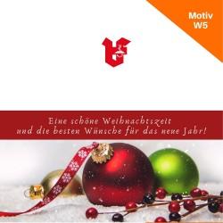 Klappkarte Weihnachtskarte Motiv W5