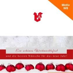 Klappkarte Weihnachtskarte Motiv W8