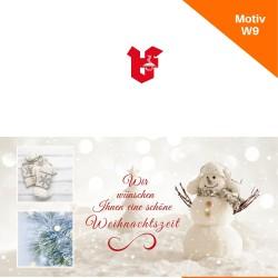 Klappkarte Weihnachtskarte Motiv W9