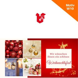 Klappkarte Weihnachtskarte Motiv W10