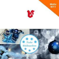 Klappkarte Weihnachtskarte Motiv W11