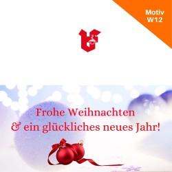 Klappkarte Weihnachtskarte Motiv W12