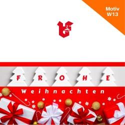 Klappkarte Weihnachtskarte Motiv W13