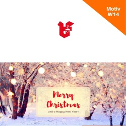Klappkarte Weihnachtskarte Motiv W14