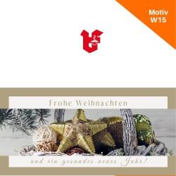 Klappkarte Weihnachtskarte Motiv W15
