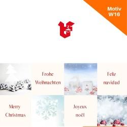 Klappkarte Weihnachtskarte Motiv W16