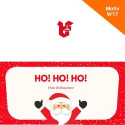 Klappkarte Weihnachtskarte Motiv W17