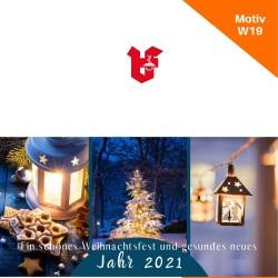 Klappkarte Weihnachtskarte Motiv W19