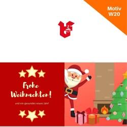 Klappkarte Weihnachtskarte Motiv W20