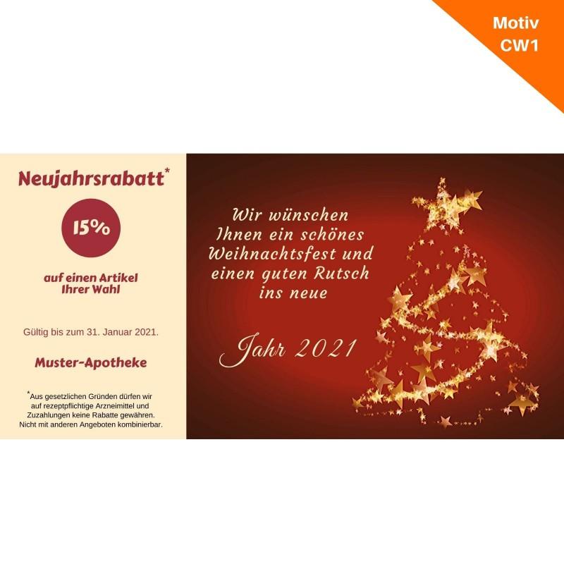 Weihnachtskarte mit Coupon Motiv CW1