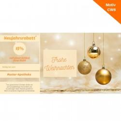 Weihnachtskarte mit Coupon Motiv CW6